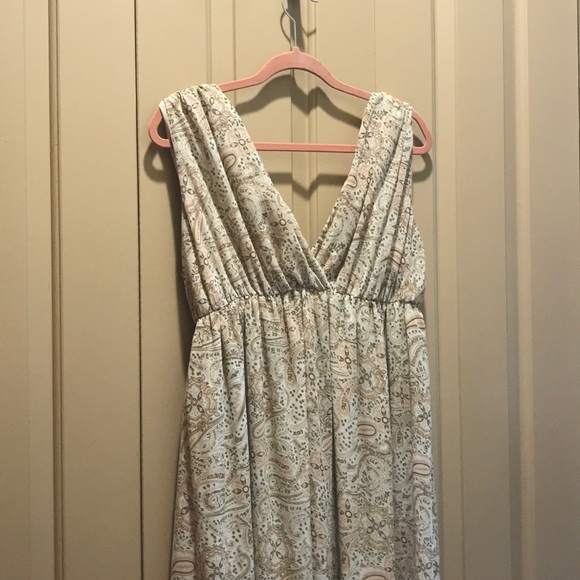 H M Dresses Hm Grecian Paisley Pastel Floor Length Dress 14